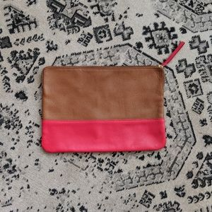GAP Two-tone Oversized Leather Clutch
